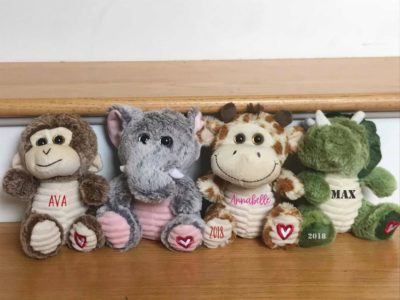 cute Valentines gift idea for children: Personalized stuffed animals