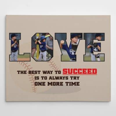 LOVE Baseball custom photo canvas print by 365Canvas