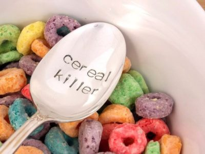 cereal killer stamped spoon - Valentines day gift for kids