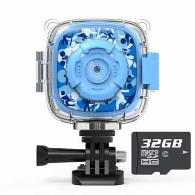 Valentines day gift for tweens & kids: blue camera for children by AKAMATE