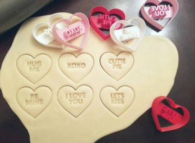 valentine gift for girl: heart-shaped cookie cutters with love words