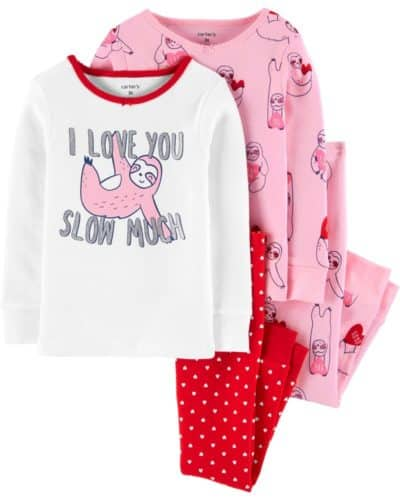 kids valentine pajamas by Carters