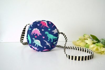 Valentine's day gift for kids - Dinosaur Circle Purse