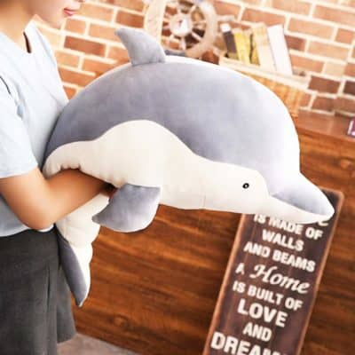 cute valentines gift for babies, toddlers, kids, teens - dolphin plush by levenkeness