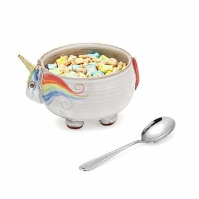 cute Valentines gift for children: Elwood the Unicorn cereal bowl