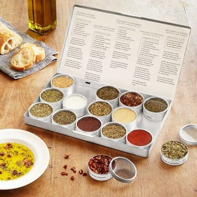 valentines gift for her instead of flower: gourmet oil dipping spice kit