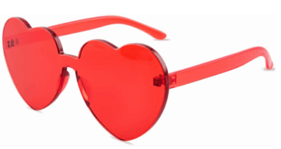 cool gift for kids on Valentines day: heart-shaped sunglasses