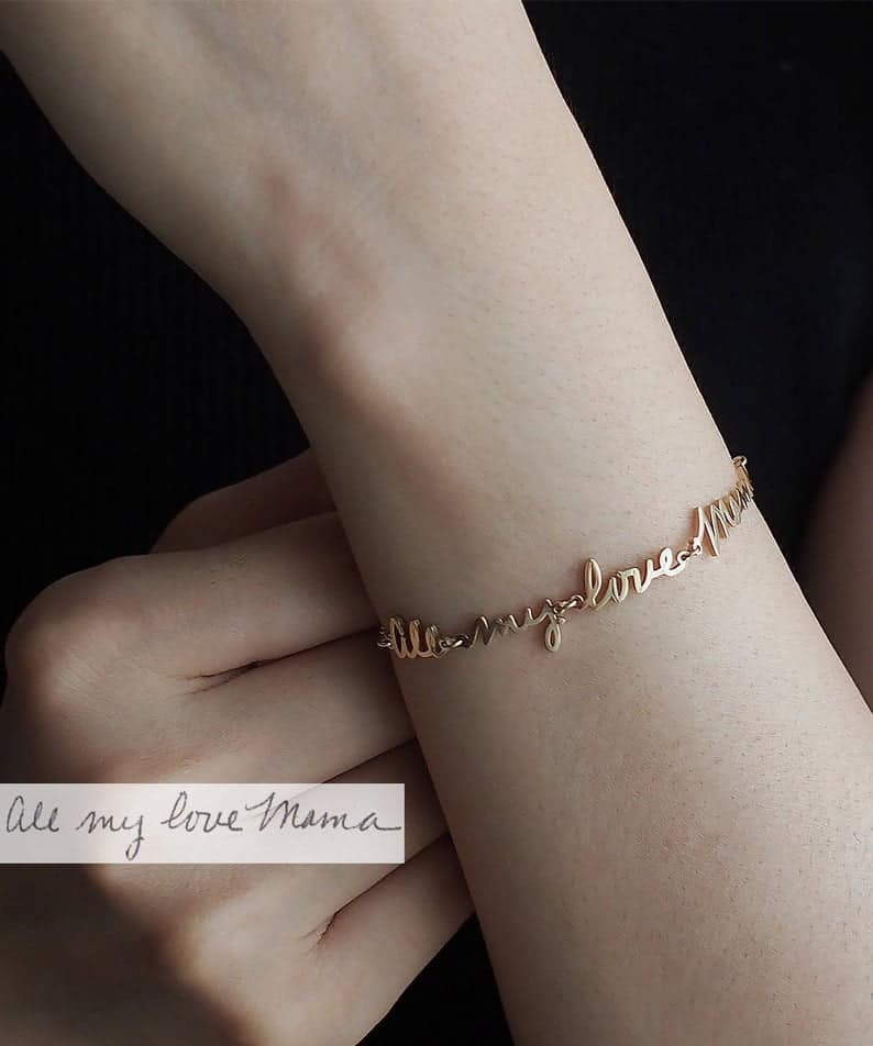 HANDWRITING BRACELET WITH CUSTOM NAME AND MESSAGE