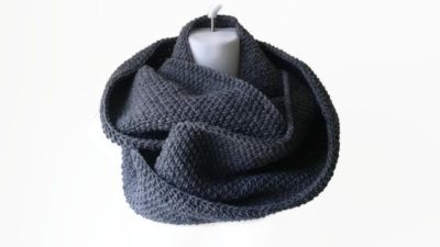wool gift for her: wool circle scarf