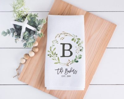 mothers day gifts for mom: Personalized kitchen towel