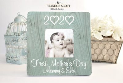 1st mother's day gift ideas: Personalized picture frame