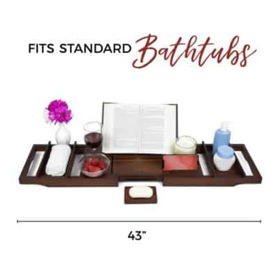 first mothers day gift idea: bamboo wood bath tray