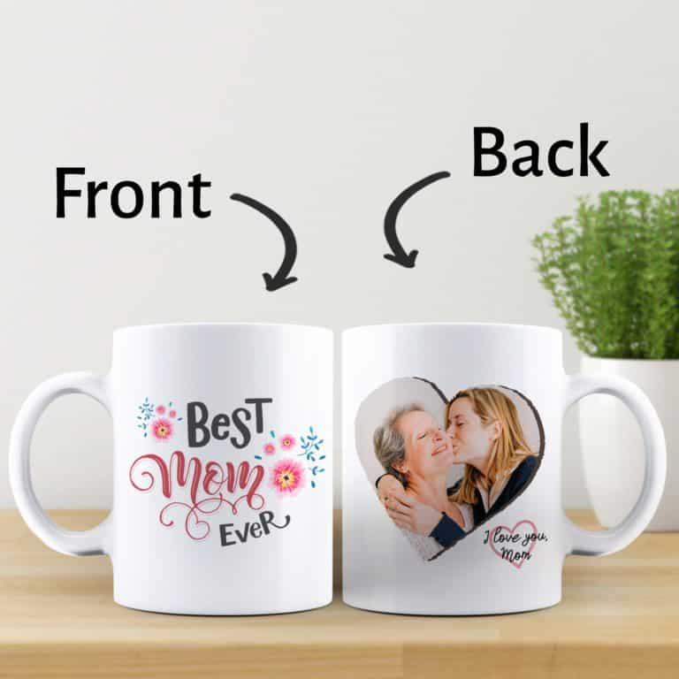 mothers day gift for mom: best mom ever custom photo mug