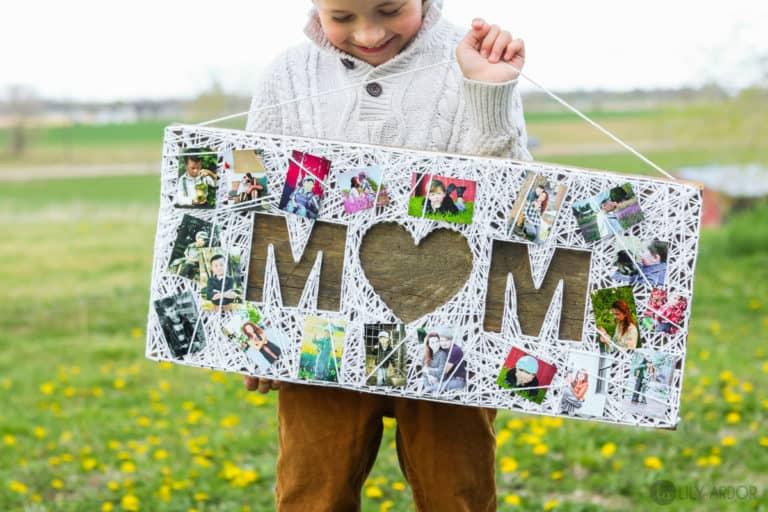 diy mom gift: diy string art