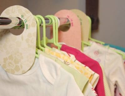 mothers day crafts for new moms: baby clothes dividers