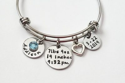 first mother's day gift ideas: baby name bracelet