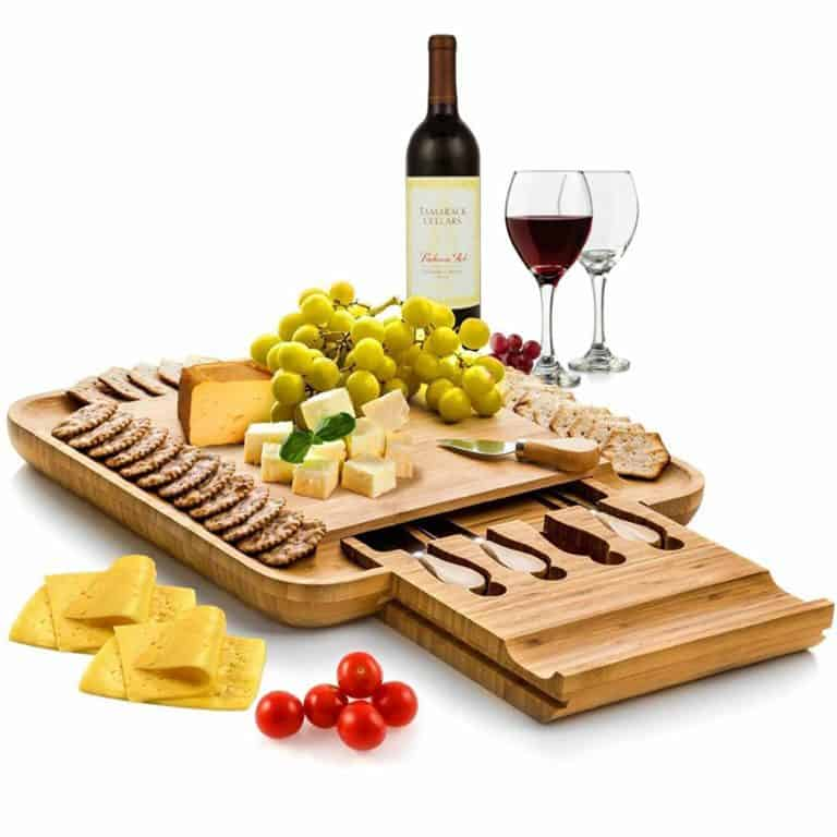 mothers day gift ideas for mom: cheeseboard with knife set