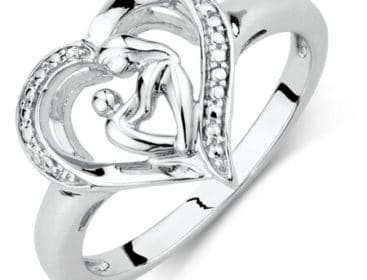 first mothers day gifts: mother and child sterling silver ring