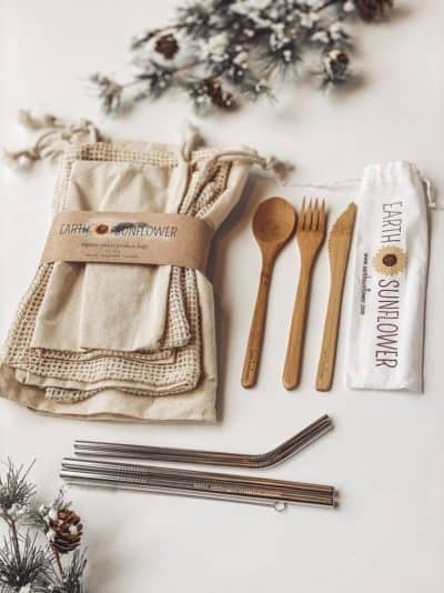 first year mothers day gift: plastic free gift set