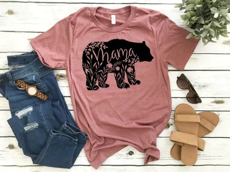 gifts for mom: mama bear t-shirt