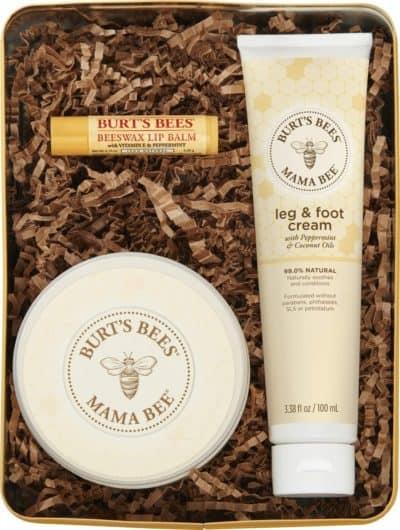 gift idea for new mom: burt's bee mama bee gift set