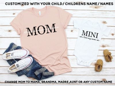 1st mother's day gift ideas: mommy and me shirt set