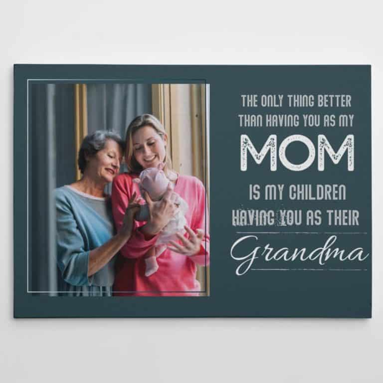 custom photo canvas for grandma