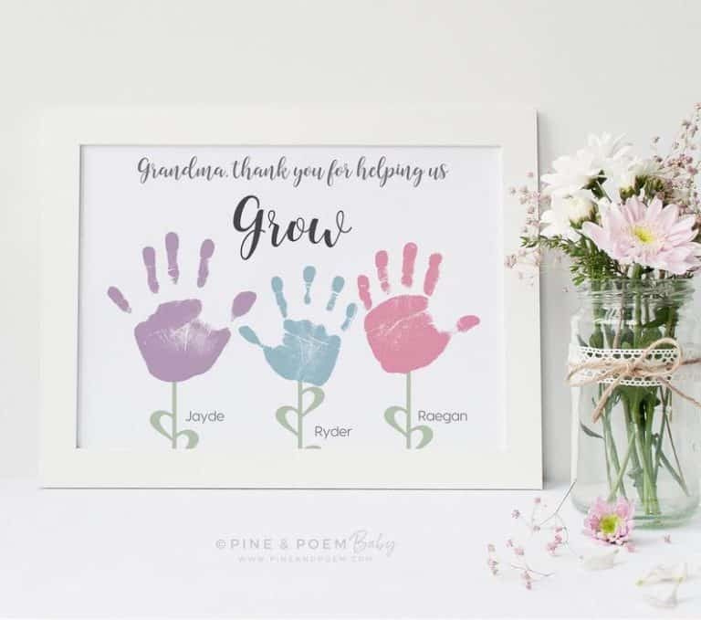 mother's day gifts for grandma - flower art print