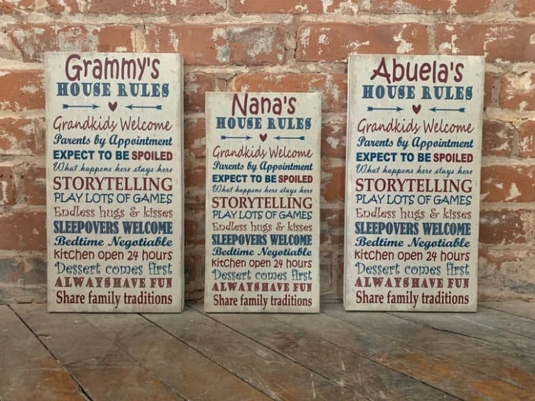 mother's day gifts for grandma - grandparent name canvas