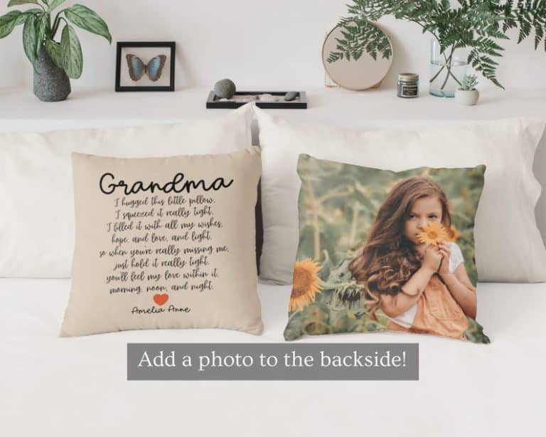 mother's day gifts for grandma - pillow for grandma