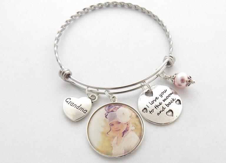gift ideas for great grandma - grandma photo bracelet