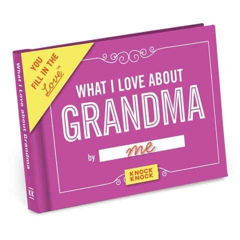gift for grandma: what i love about grandma journal