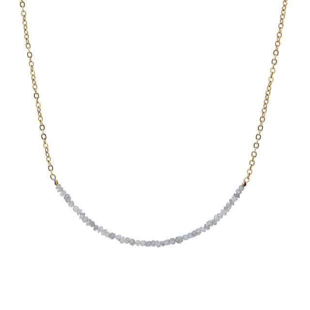 rough diamond necklace - expensive gifts for mom