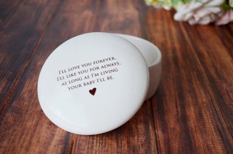 round keepsake box - keepsake mothers day gifts
