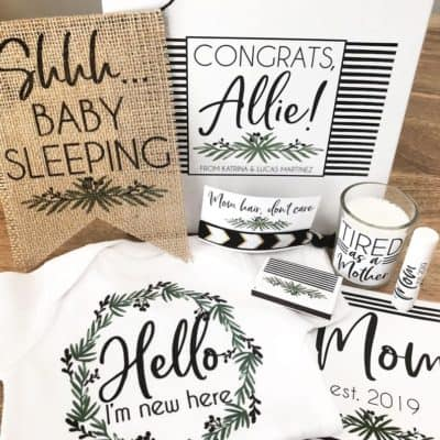 gift for new mom or mother to be: gift basket