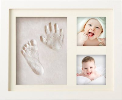 mommys first mothers day gift: newborn baby handprint and footprint picture frame kit