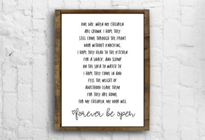 mothers day gifts for new moms: framed farmhouse sign with saying