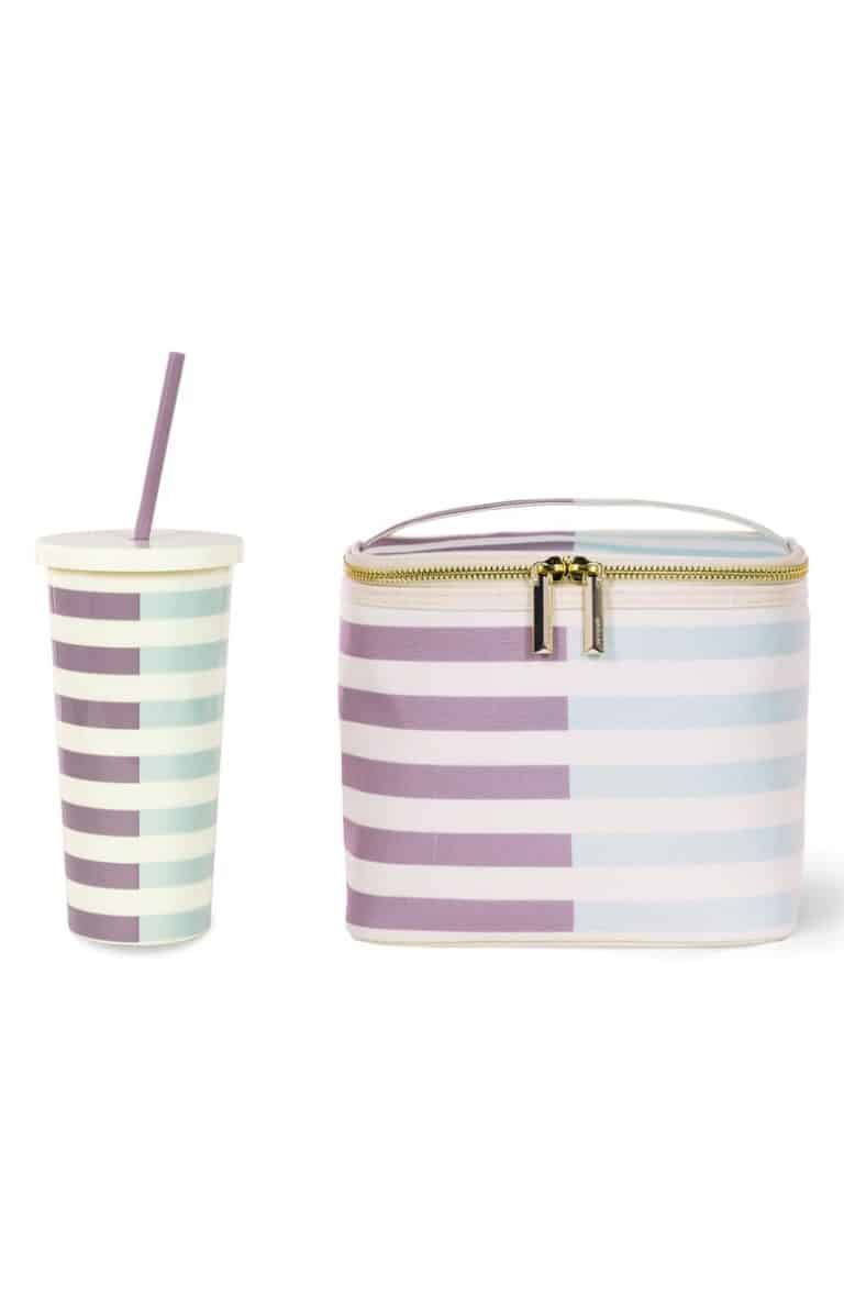 gifts for mom: tumbler and lunch tote set