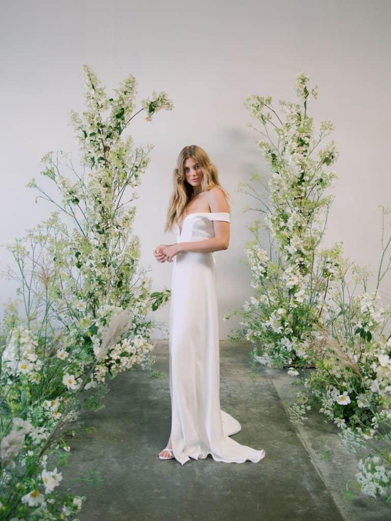 chic floral wedding arbor idea