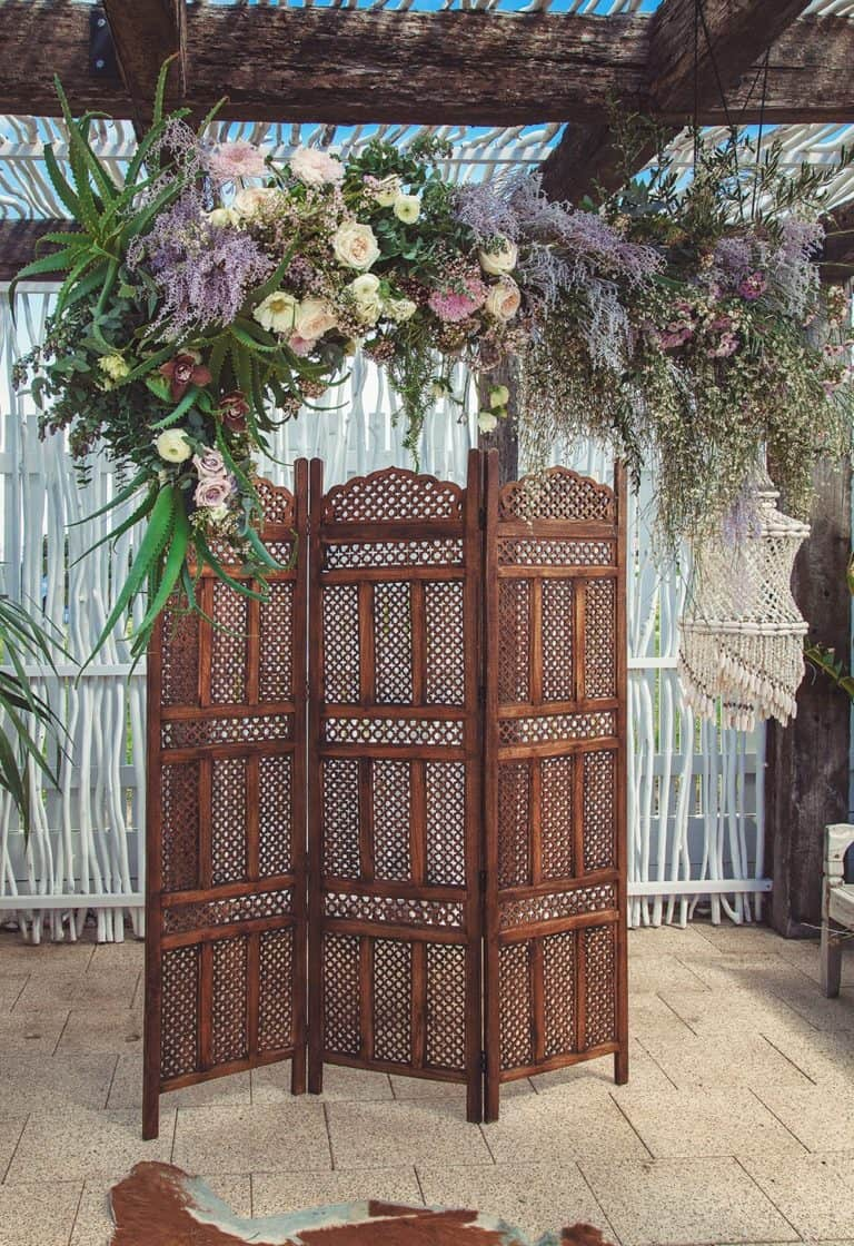 vintage Moroccan style wedding backdrop idea