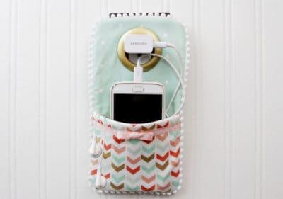 DIY phone charger holder for moms