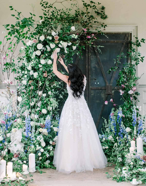 enchanted wedding backdrop idea