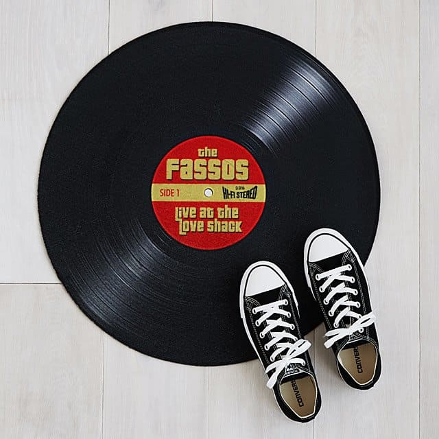 personalized record doormat -funny personalized gifts