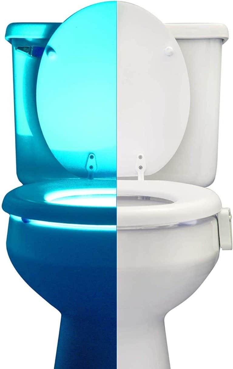weird gifts for him - rainBowl motion sensor toilet night light