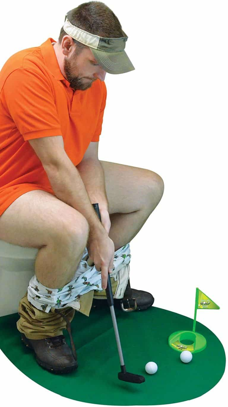 toilet time golf game - gag gifts for brother