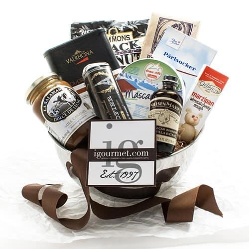 gifts for bakers: baker's gift basket