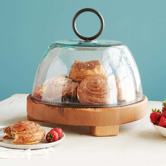 gift ideas for people who like to bake: reclaimed serving boards and cloche