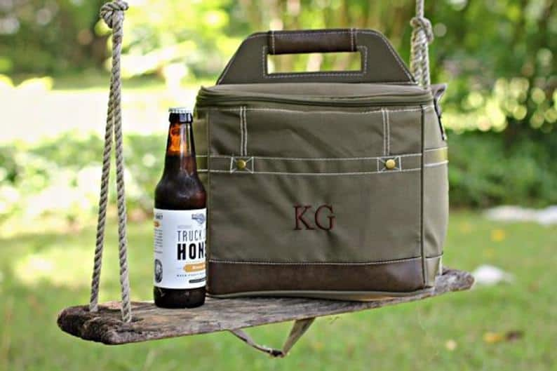 personalized beer gifts for him - beer cooler bag
