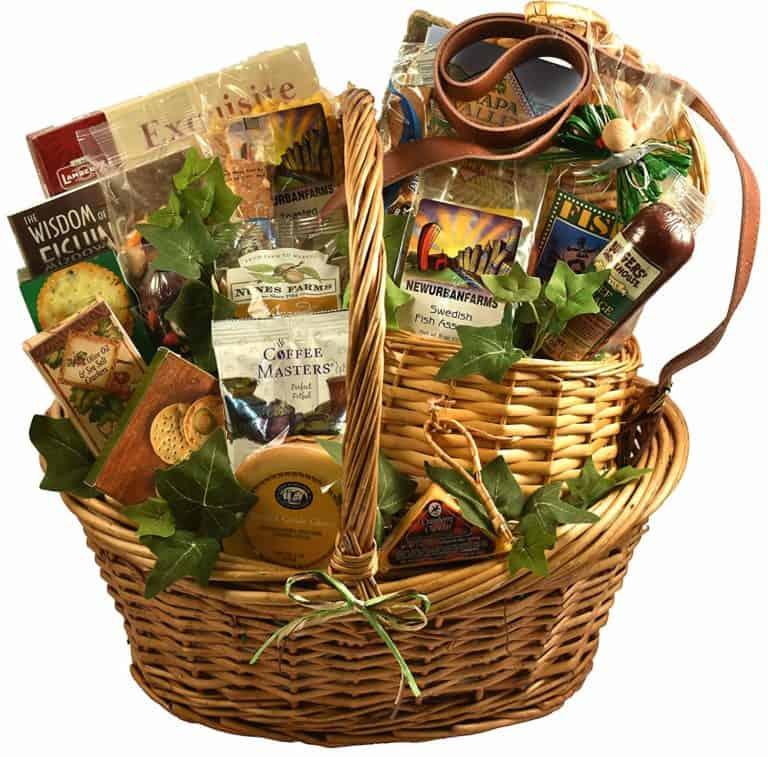 a fishing gift basket