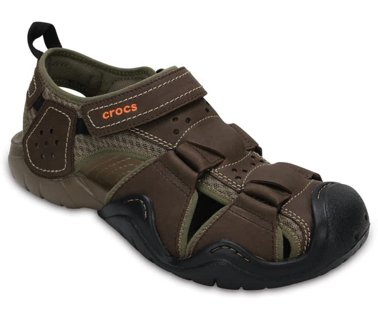 must have gift for fishermen: crocs leather sandal